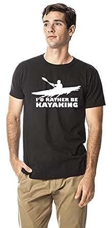 Kayaking sports round neck cotton tshirt, Black M