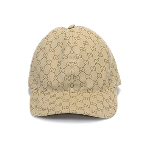 Gucci Men's Beige GG Guccissima Web Stripe Baseball Cap (Large) - Gucci Cap Hat