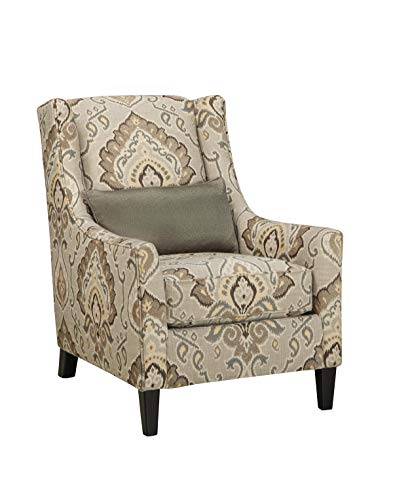 Signature Design by Ashley 2870122 Ashley Furniture Signature Design - Wilcot Accent Chair Contemporary - Includes Lumbar Pillow, - Chenille Sleeper Chair