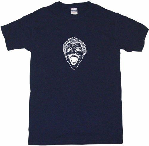 Laughing Man T-shirt (Joker Laughing Face Logo Men's Tee Shirt 6XL-Navy)