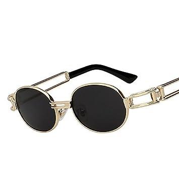 TIANLIANG04 Gafas de Sol Steampunk Hombre Mujer Espejo Lente ...