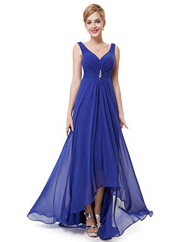 Ever-Pretty Womens Sleeveless High Low Evening Dress 16 US Sapphire Blue (Sapphire Evening Gown)