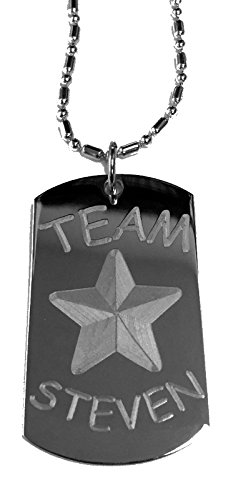 Team Steven - Luggage Metal Chain Necklace Military Dog ()