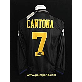 Eric Cantona#7 Manchester United Kang-FU Kick Retro Long Sleeve Soccer Jersey 1994 Full Premier Patch