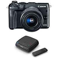Canon EOS M6 Mirrorless Digital Camera Black Kit with EF-M 15-45mm f/3.5-6.3 IS STM Lens - With Canon Connect Station CS100
