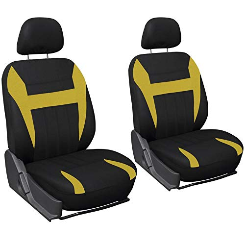 Motorup America Auto Seat Cover 6pc Set - Fits Select Vehicles Car Truck Van SUV, Yellow & ()