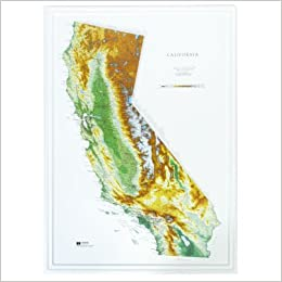 Hubbard Scientific Raised Relief Map 951 California State Map: USGS ...