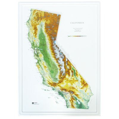 Hubbard Scientific Raised Relief Map 951 California State Map