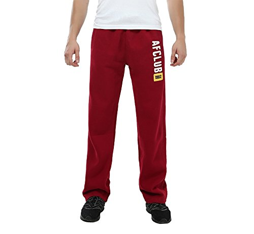 Pocket Leg Trousers Straight - Stretch Loose Fit Men Sweatpants Straight Leg Active Jogigns pants casual wear