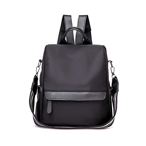 Anti-theft Women Backpack, Elegant Backpack, Shoulder Bag, Crossbody Bag, Casual School Bag, All In One Multifunction Backpack, Nylon Material, Waterproof, 28 X 15 X 30CM, Apricot Black
