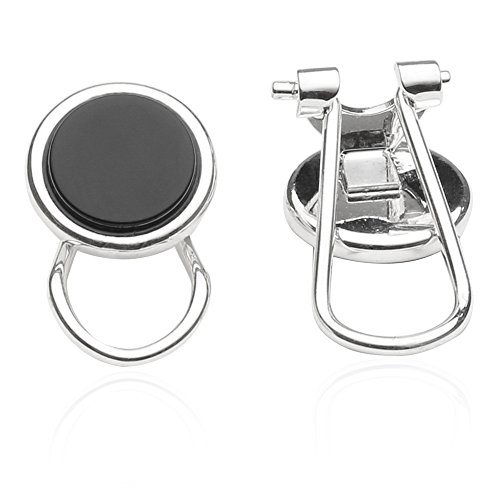 Cuff-Daddy Sterling Silver Plated Clip-on Studs in Onyx by Cuff-Daddy (Image #1)