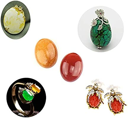10x8mm 15pcs Wholesale Gemstone Mix Kinds of Jasper Agate Oval Shape Cabochon CAB Flatback DIY Jewelry Accressory