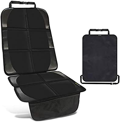 Funda para silla infantil de coche negra - 1 protector de respaldo ...