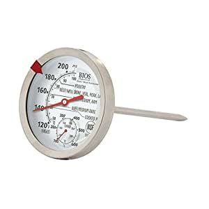BIOS Professional Meat Oven Thermometer, White