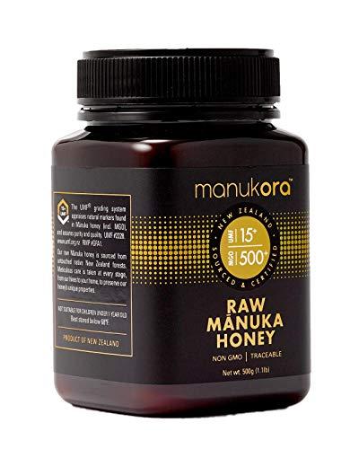 Manukora UMF 15+/MGO 500+ Raw Mānuka Honey (500g/1.1lb) Authentic Non-GMO New Zealand Honey, UMF & MGO Certified, Traceable from Hive to Hand by Manukora (Image #1)