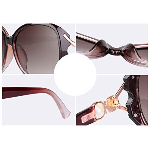 Couleur Chaude Femmes YGyanjing de Soleil 400 Oversized Lunettes Frame Protection UV Polarized Classics pour C Lunettes Rondes Mode F 5qxrZa