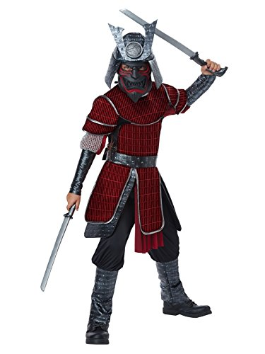 Deluxe Samurai - Child Costume Red/Black -