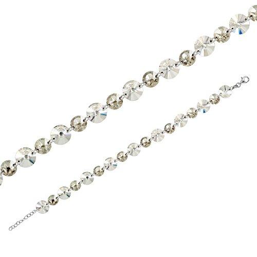 Monella - Bracelet 925/1000 rhodié Swarovski Elements - Gris
