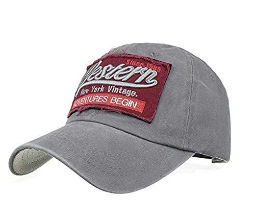 Caomoa Nuevo parche ajustable gorra oeste de malla gorra de ...