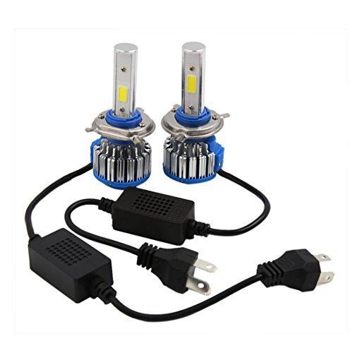 DealMux 2pcs H4 18W 1800LM 6000K Car COB LED Farol Kit Feixe lmpadas de substituio