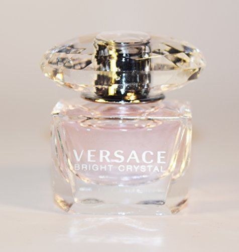 Versace Bright Crystal For Women Miniature Collectible 0.17 oz EDT *Bottle Only* *Free Name Brand Sample-Vials With Every (0.17 Ounce Miniature Collectible)