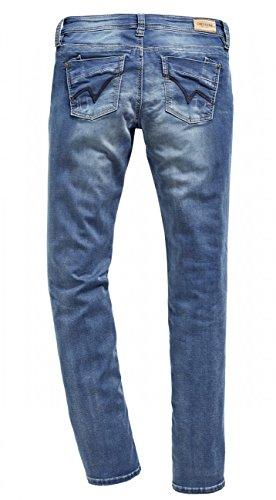 Timezone Wash Dritta Denim Donna Tahila 3041 A Slim Gamba Jeans Blue ArAqRSw