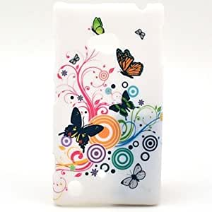 The Cheerful Butterflies Pattern Hard Plastic Cases for Nokia Lumia 720/N720