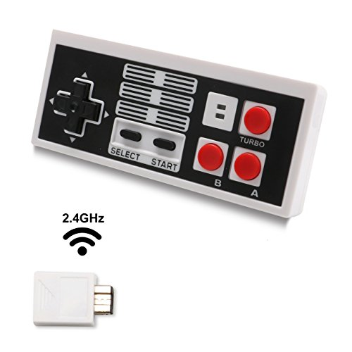 Nintendo Usb Pda (Koicaxy NES Classic Edition Wireless Controller With Build in Battery Gamepad for Nintendo Mini NES Classic Wireless)