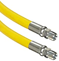 Continental ContiTech Gorilla Yellow Nitrile Rubber Multipurpose Industrial Hose Assembly, 1/4