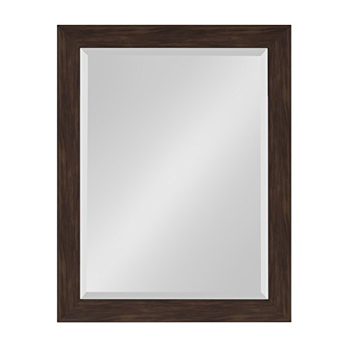 Kate and Laurel Scoop Framed Beveled Wall Mirror, 22x28, Wal