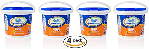Kleenhanz Towelettes Pail, 500 count (Pack of 4 - Total of 2,000 ()