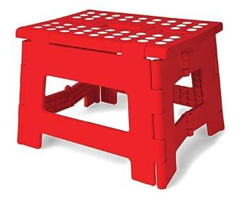 Awesome Kikkerland Rhino Easy Fold Step Stool Short Red Ibusinesslaw Wood Chair Design Ideas Ibusinesslaworg