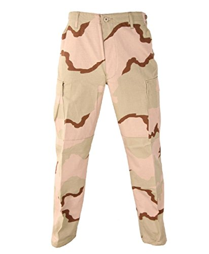 Melonie clothing Tri-Color Desert Camo BDU Pants Military Army Cargo Fatigue Tactical