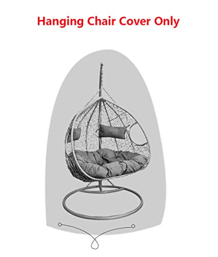 - SIRUITON Patio Double Hanging Chair Cover 420D Oxford Fabric Waterproof Patio Cocoon Egg Chair Cover 2 Seat