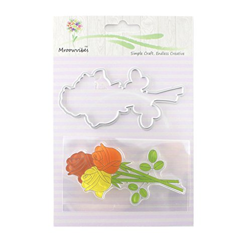 Bottone Flower Silicone Clear Stamp Cutting Dies Stencil Frame For Scrapbook Album Decor Frames Clear Stamp Set