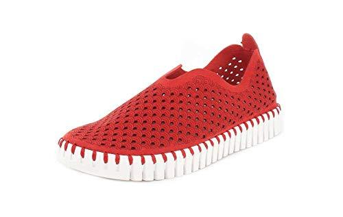 Tulip3175 Profond Rouge Flach Damen Ilse Jacobsen Sneaker Baskets Femme xqI8HwH