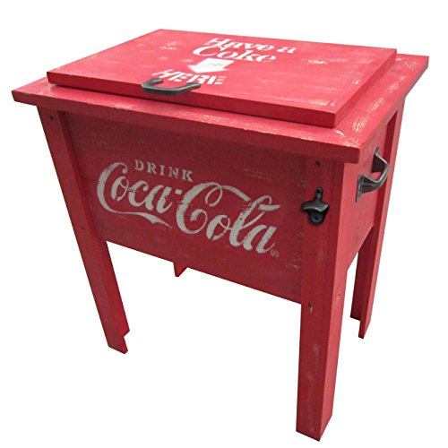 Leigh Country CP 98100 Coca Cola Vintage Cooler, 54-Quart, Red by Leigh Country