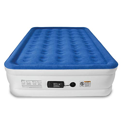 SoundAsleep Dream Series Air Mattress with ComfortCoil Technology & Internal High Capacity Pump - Queen Size (Best Eco Friendly Mattress)