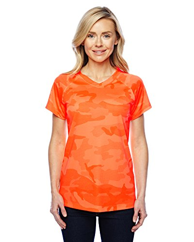 (Champion Women's Essential Double Dry V-Neck Tee)