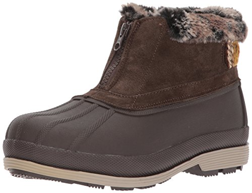 - Propet Women's Lumi Ankle Zip Snow Boot, Brown, 9 2E US