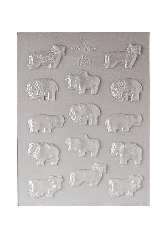 Paderno World Cuisine 14 Imprint Polypropylene Zoo Animal Chocolate Mold ()