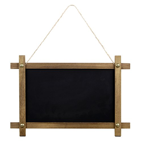 Rustic Framed Hanging Chalkboard Sign with Magnetic Chalk Board Surface, Compatible with Liquid Chalk Ink Markers (11 x 15 Inches)