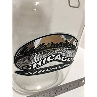 Chicago Skyline Sticker | Reflective Chrome Mirror Shiny Decal | Chicago Bean View | Apply to Mug Phone Laptop Water Bottle Decal Cooler Bumper | Cloud Gate Millennium Park Windy City Flag Sports 312: Automotive