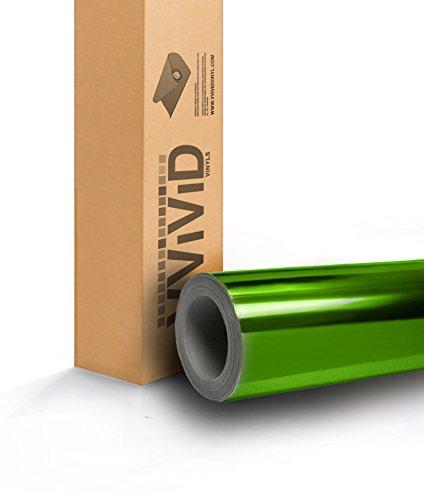 Green Standard Mirror Chrome 17.75in x 60in Vinyl Wrap Roll with VViViD XPO Air Release (Tech Chrome Mirror)