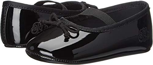 (Polo Ralph Lauren Kids Girls' Allie Ballet Flat Patent, Ruby, Black/Red/White, 1 M US Infant)