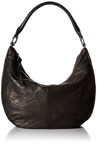 Veronica FRYE Bag Leather Shoulder Black Zip Hobo BBrqdxTw