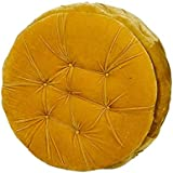 Puffy Sitting Stool Yellow Designer Pouffe Cushioned Stool for Living Room/Office/Kitchen/Puffy Stool (Yellow - Color) by Sajid Puffs XXXL