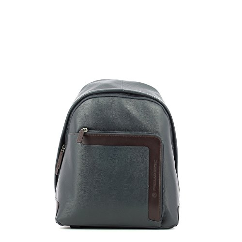 Small Leather Marrone Blu Leather Backpack Small 6dgqdv