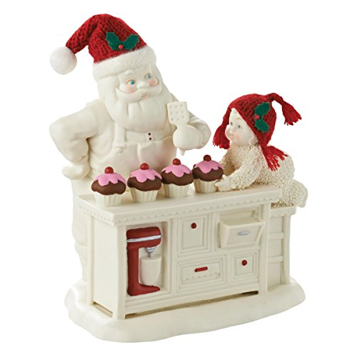 Snowbabies LE Baking in the Kitchen with Santa Porcelain Christmas Figurine