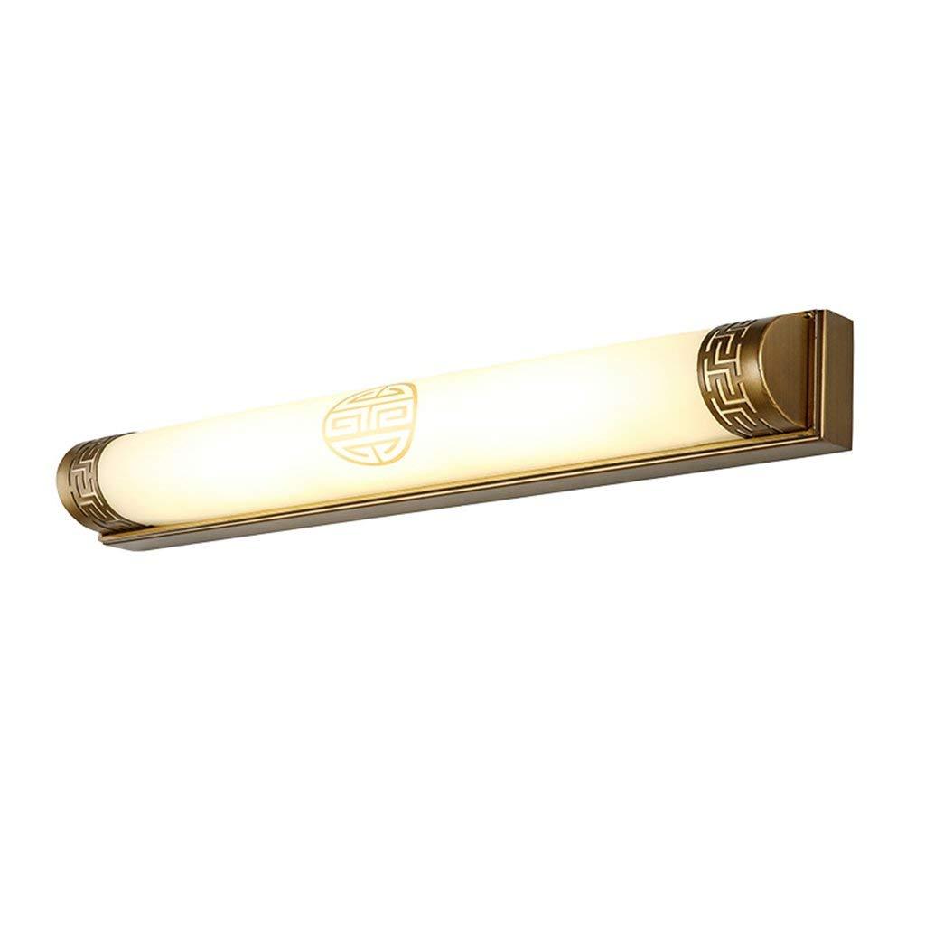 FXING Chinesische Spiegel vorne Licht Retro Europäischen Spiegel Lampe Badezimmer Wand Lampe Badezimmer Spiegelschrank chinesische Lampe LED-Make-up-Leuchten (Farbe  Bronze-Trumpet -50 cm 14 w)